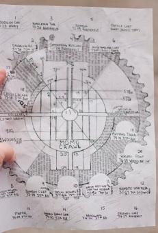 Close-up of the circular map.